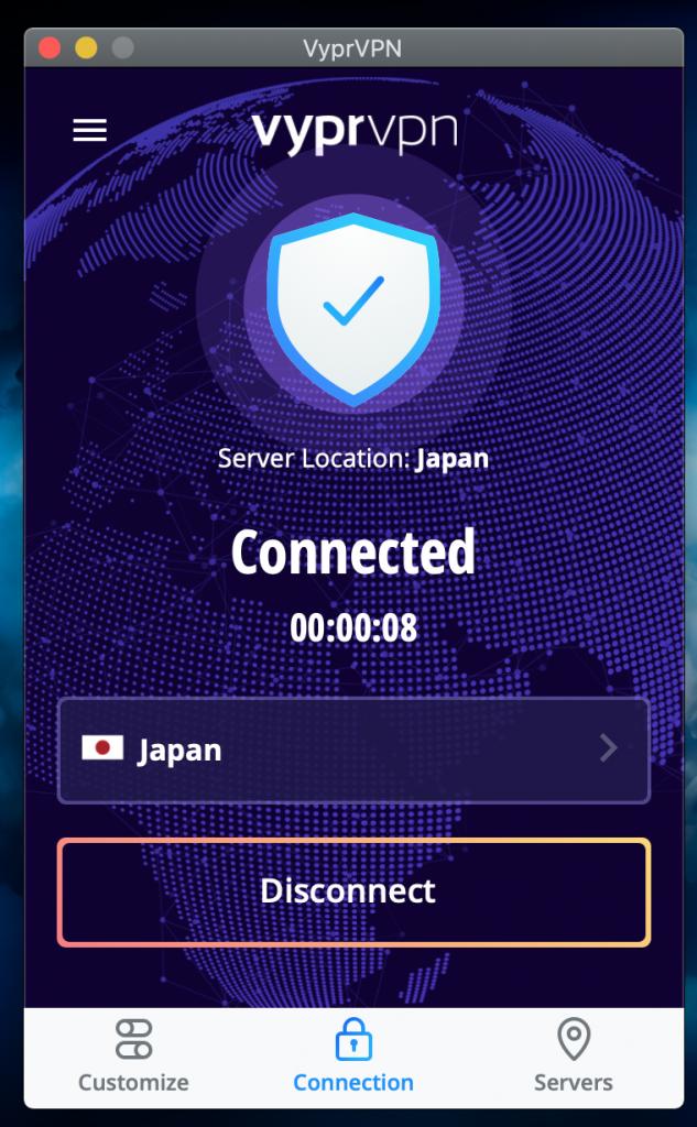connexion von établie au japon